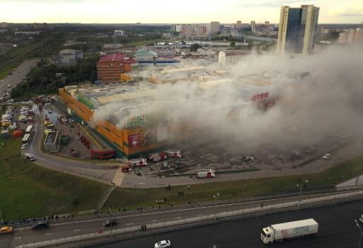 14 injured in Moscow shopping centre blaze