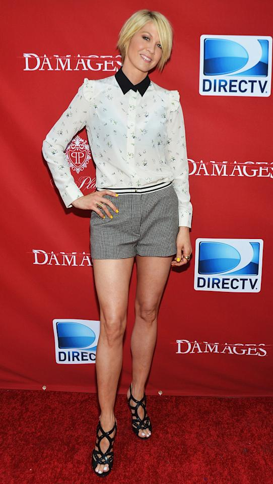 """Jenna Elfman attends The DirecTV premiere for the fifth and final season of """"Damages"""" at Paris Theater on June 28, 2012 in New York City."""