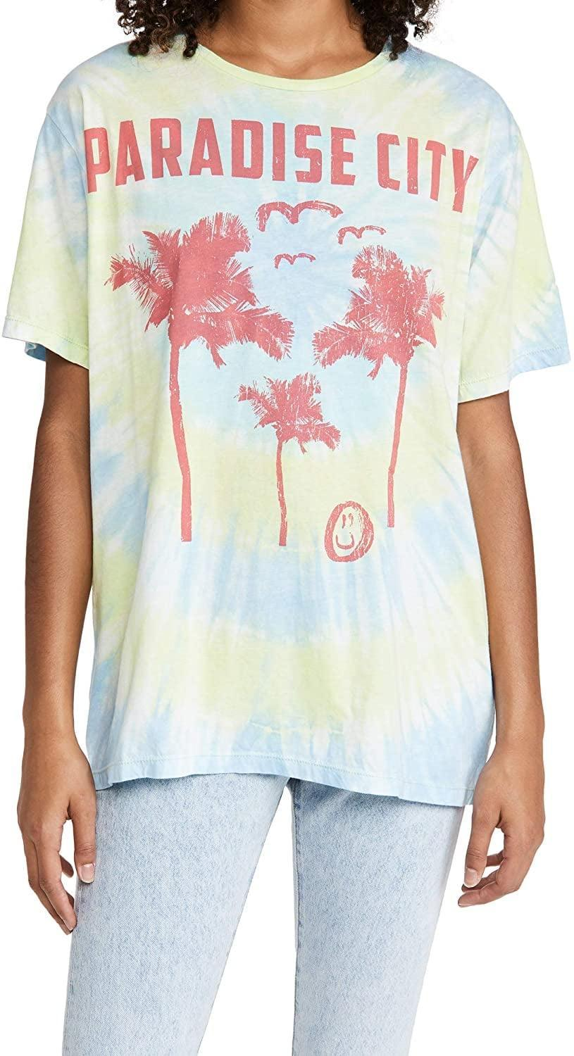 <p>Sometimes you just want to wear an oversized graphic tee and that's where this <span>One Teaspoon Women's Paradise City Tie Dye Boyfriend Tee</span> ($60) comes into play.</p>