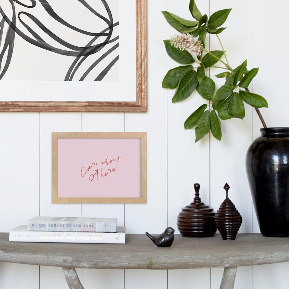 """<p><strong>Minted</strong></p><p>minted.com</p><p><strong>$24.00</strong></p><p><a href=""""https://go.redirectingat.com?id=74968X1596630&url=https%3A%2F%2Fwww.minted.com%2Fproduct%2Fart%2FMIN-G75-DNA%2Fobligation&sref=https%3A%2F%2Fwww.cosmopolitan.com%2Flifestyle%2Fg36642727%2Fbacksplash-ideas%2F"""" rel=""""nofollow noopener"""" target=""""_blank"""" data-ylk=""""slk:Shop Now"""" class=""""link rapid-noclick-resp"""">Shop Now</a></p><p>You can fill up just about any space with wall art, but have you thought about a gallery backsplash? Start by hanging this piece in your kitchen or bathroom and add on more from there. </p>"""