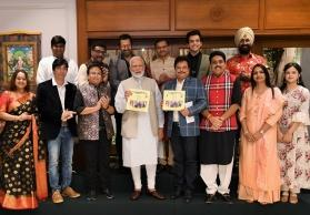 PM Modi launches 'Taarak Mehta Ka Ooltah Chashmah' coffee table book 'Swachhata Hi Seva'