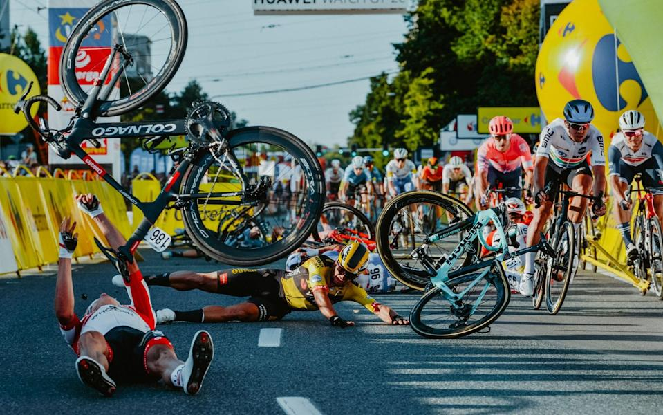 Dylan Groenewegen is handed nine-month ban by UCI following Tour of Poland crash - GETTY IMAGES