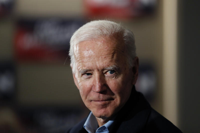Democratic presidential candidate and former Vice President Joe Biden speaks during a meeting with local residents at Buena Vista University, Sunday, Dec. 1, 2019, in Storm Lake, Iowa. (AP Photo/Charlie Neibergall)