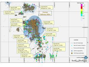 Surface Map – Pascalis Gold Trend new drilling