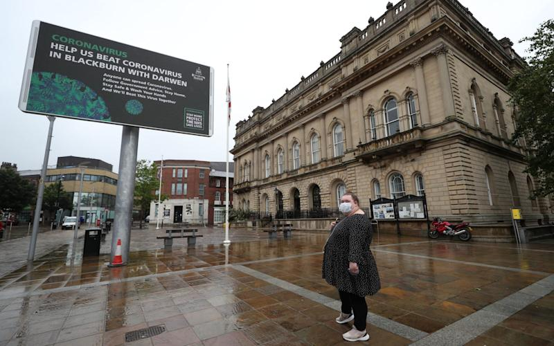 The Lancashire town brought in extra restrictions on Tuesday after a spike in cases - PA
