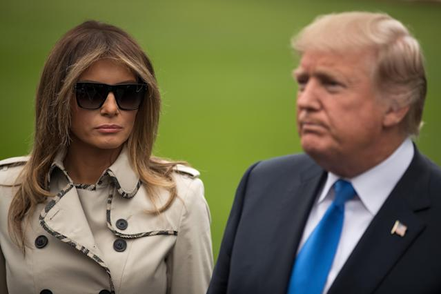 Is that really Melania Trump standing next to the president? (Photo: Getty Images)