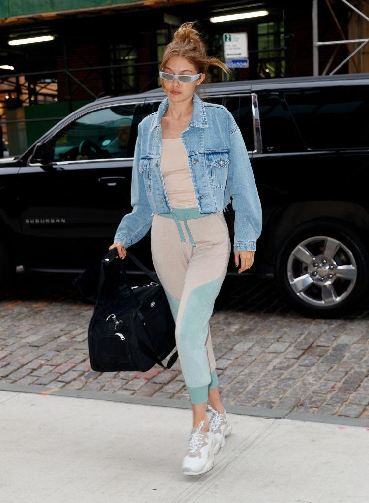<p>Model Gigi Hadid in her athleisure look and Ash sneakers in New York City on June 18, 2018. (Photo: Getty) </p>