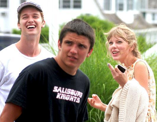 Taylor Swift and Patrick Schwarzenegger are seen spending Independence Day with members of the Kennedy family in Hyannisport, Massachusetts on July 4, 2012. The Grammy winning singer's embrace with the model and son of action star Arnold Schwarzenegger has people wondering whether the two are friends or a new item.