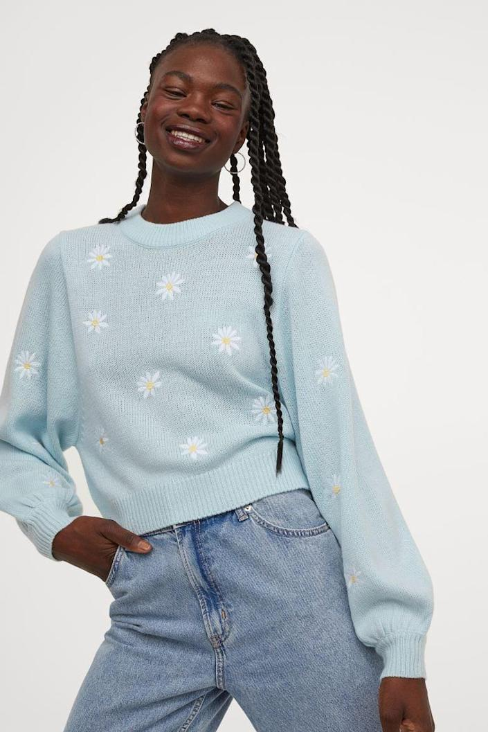 <p>This <span>Embroidered-Detail Sweater</span> ($30) is an ideal choice for spring outings.</p>