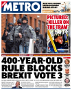 "<p>400-year-old rule bloks Brexit vote 3 – The PM's spokesman revealed that she was caught on the hop, saying: ""The Speaker didn't give forewarning as to the content of his statement, or indeed the fact that he was making one."" </p>"