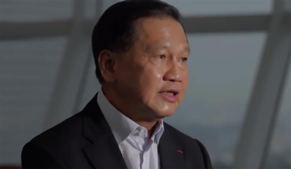 PHOTO: Ex-CapitaLand CEO Liew Mun Leong (Screen shot from YouTube)