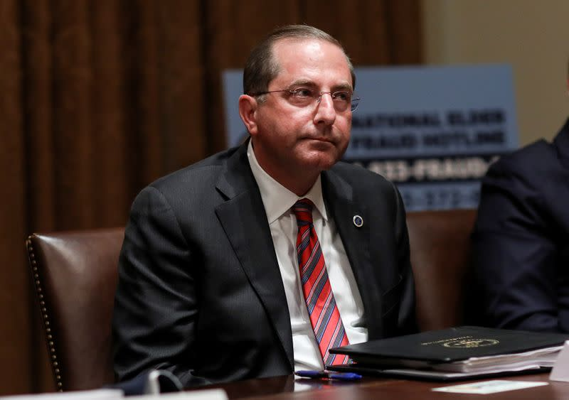 HHS Secretary Azar attends roundtable discussion at the White House in Washington
