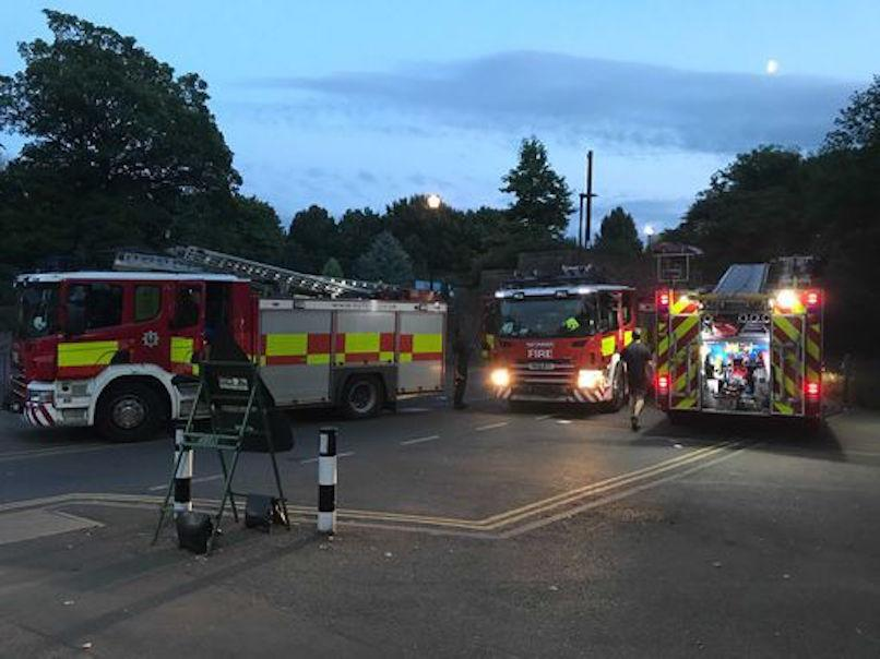 A number of fire engines attended the scene at Crookes Valley Park in Sheffield, where a body was recovered. (Reach)