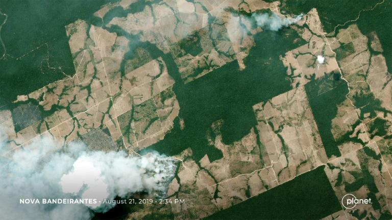 The rapid expansion of fires in the Brazilian rainforest (pictured August 21, 2019) is the result of a significant increase in deforestation