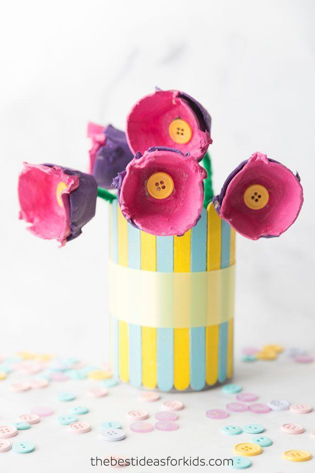"<p>Regardless of how classic or cliché they may be, flowers are a must on Mother's Day. For an arrangement that will last way beyond May, turn egg cartons into makeshift blooms. </p><p><em><a href=""https://www.thebestideasforkids.com/egg-carton-flowers/"" rel=""nofollow noopener"" target=""_blank"" data-ylk=""slk:Get the tutorial at The Best Ideas for Kids »"" class=""link rapid-noclick-resp"">Get the tutorial at The Best Ideas for Kids »</a></em></p>"