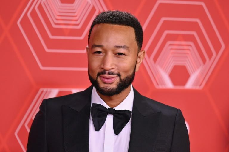 """US singer-songwriter John Legend performed at the Tonys with the cast of """"Ain't Too Proud: The Life and Times of the Temptations"""" (AFP/Angela Weiss)"""
