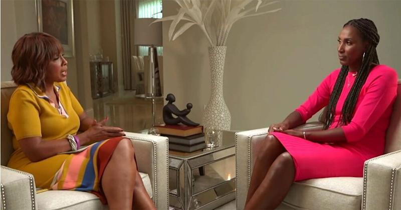 Gayle King (L) and Lisa Leslie | CBS THIS MORNING
