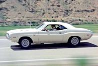 "<p>The 1970 Dodge Challenger R/T—especially the Hemi model—was one of the most impressive pony cars to come out of the muscle boom of the late 1960s and early 1970s. And its reputation was cemented with the film <em>Vanishing Point</em> (though the R/Ts in the film were 440-powered). The plot is simple: Kowalski (Barry Newman) bets that he can drive from Denver to San Francisco in less than 15 hours (which would require an average speed of over 80 mph). As you can imagine, there are plenty of great stunts, which were put together by the same team that worked on <em>Bullitt</em>. Kowalski dusts off a Jaguar XKE, launches the Challenger over a gully, and does all kinds of other crazy driving. </p><p>However, there is one glaring error: In the final crash that destroys the car, the filmmakers used a '67 Camaro rather than a Challenger.</p><p><a class=""link rapid-noclick-resp"" href=""https://www.amazon.com/dp/B001JNND9W?tag=syn-yahoo-20&ascsubtag=%5Bartid%7C10054.g.27421711%5Bsrc%7Cyahoo-us"" rel=""nofollow noopener"" target=""_blank"" data-ylk=""slk:AMAZON"">AMAZON</a></p>"