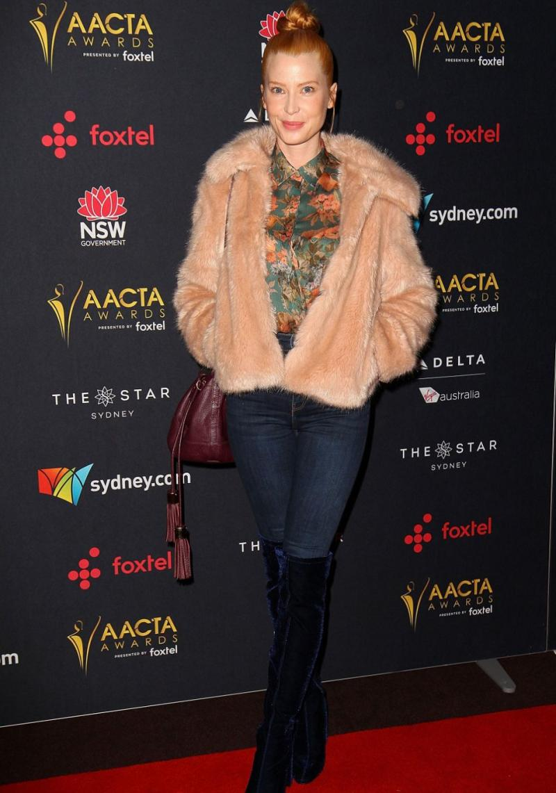 Actress Emma Booth wore jeans to the AACTA Awards Luncheon in Sydney on Monday. Source: Getty