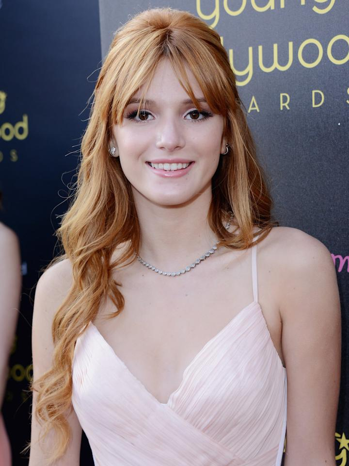 <p>In 2012, Thorne attended a Young Hollywood Awards event with lighter strawberry blond hair. </p>