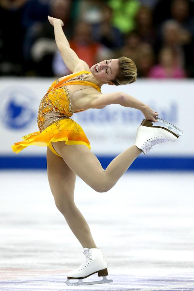 OMAHA, NE - JANUARY 26: Ashley Wagner competes in the Ladies Free Skate during the 2013 Prudential U.S. Figure Skating Championships at CenturyLink Center on January 26, 2013 in Omaha, Nebraska. (Photo by Matthew Stockman/Getty Images)