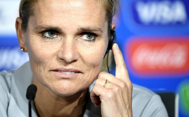 Netherlands coach Sarina Wiegman admitted that Lieke Martens is a doubt for the women's World Cup final against the USA (AFP Photo/FRANCK FIFE)