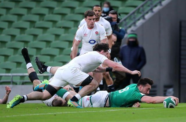 England were outclassed by Ireland in Dublin (Niall Carson/PA)