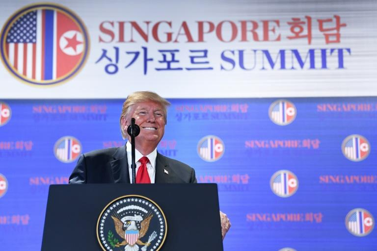In a blockbusting press conference after the summit, Trump said the US would halt military exercises with Seoul -- something long sought by Pyongyang, which claims the drills are a rehearsal for invasion