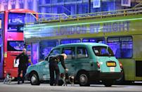 """<p>Police sniffer dogs on London Bridge as officers are dealing with a """"major incident"""" at London Bridge. (Press Association) </p>"""