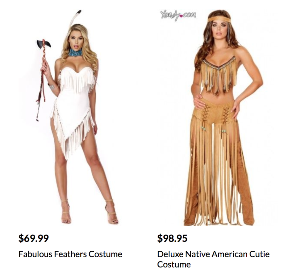 """#CancelYandy tweets call for the brand to pull its """"sexy Native American"""" costumes. (Photo: Yandy.com)"""