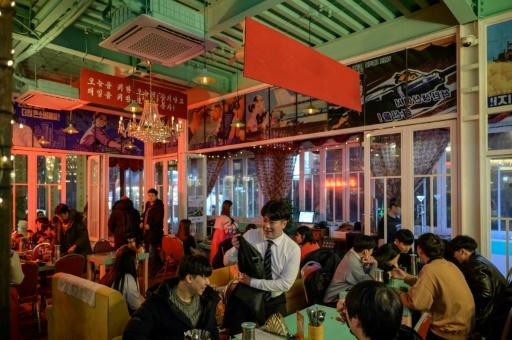The Pyongyang Bar's clientele are largely curious Southerners, with the occasional Northern defector