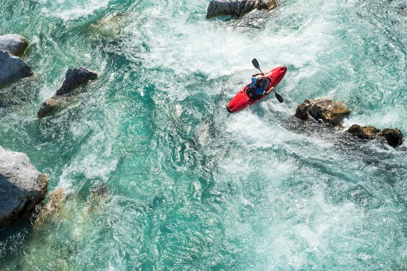 Kayaking in the Soca Valley - getty