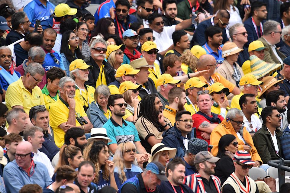 Australian fans watch on as two of their biggest rivals play the World Cup final (Photo by Glyn KIRK / AFP)