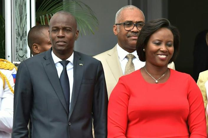 Haitian First Lady Martine Moise -- seen with her husband, President Jovenel Moise, in 2018 -- has made her first comments since her husband's assassination