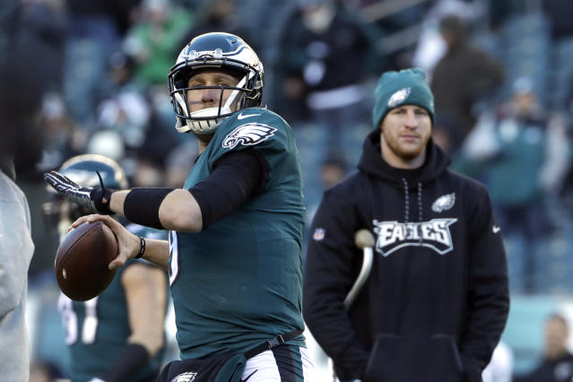 Can Nick Foles finish what the injured Carson Wentz started? (AP)