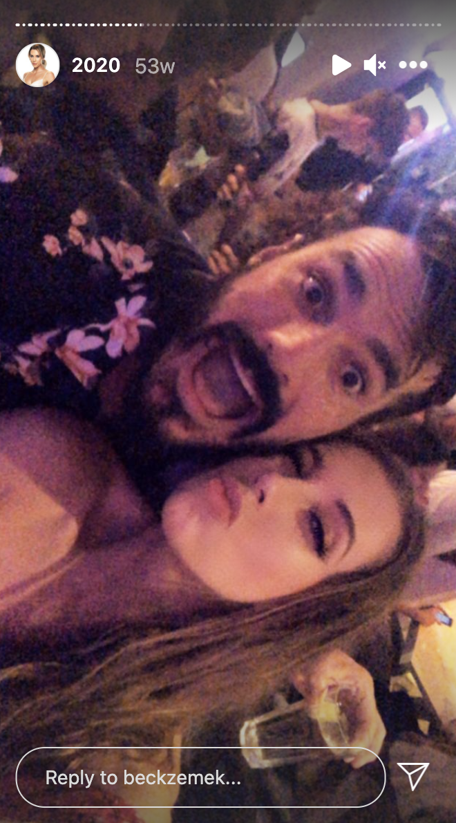 Married At First Sight 2021 contestant Bec Zemek posing for a selfie with The Bachelor contestant Locky Gilbert in February 2020