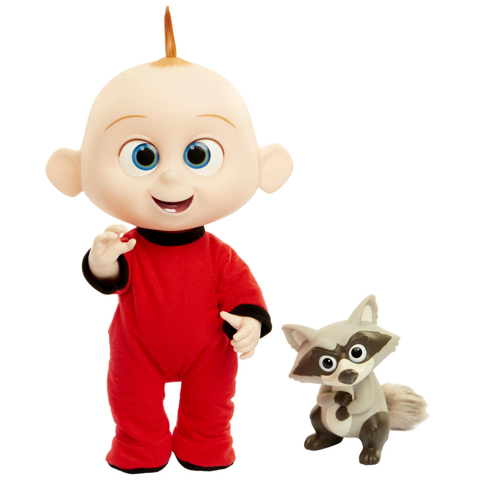 <p>Prepare for a Jack-Jack attack courtesy of this adorable ultra-adorable doll, which sparks to life when you push its tummy. Hear the littlest Incredible laugh, shout, and show off his multitude of emerging powers. (Photo: Jakks) </p>