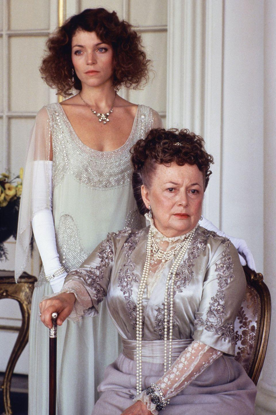 <p>In <em>Anastasia: The Mystery of Anna</em><em>,</em> playing Dowager Empress Maria with actress Amy Irving as Anna Anderson. </p>