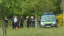 Investigators search area after knife attack on French police