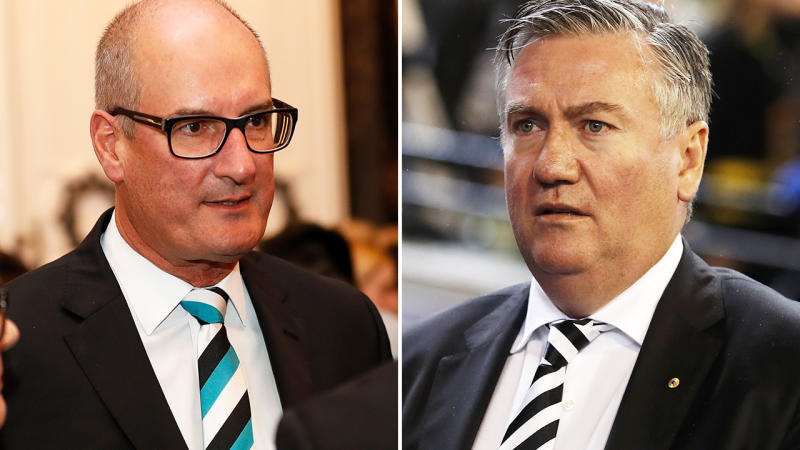 David Koch and Eddie McGuire, pictured here at AFL functions.
