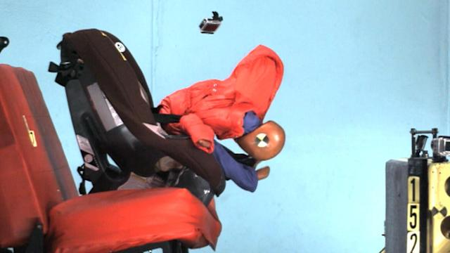 Video shows dire reason you should never put a child wearing a winter jacket in a car seat