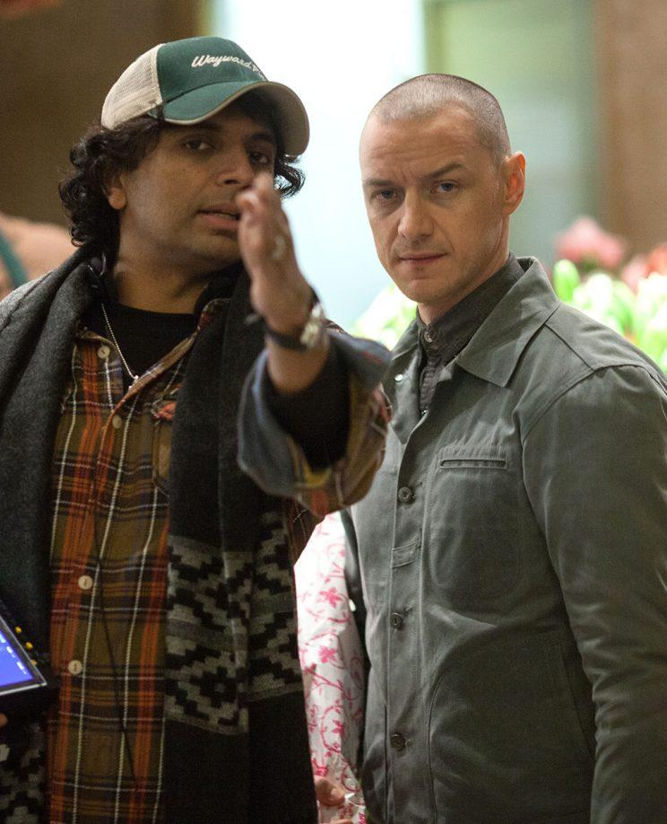 M. Night Shyamalan and James McAvoy
