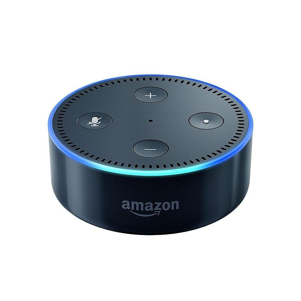 <p>Alexa basically acts like your personal assistant. The third-generation <span>Amazon Echo Dot</span> ($30) allows you to easily make calls, check the weather, request rides, and more, completely hands-free.</p>