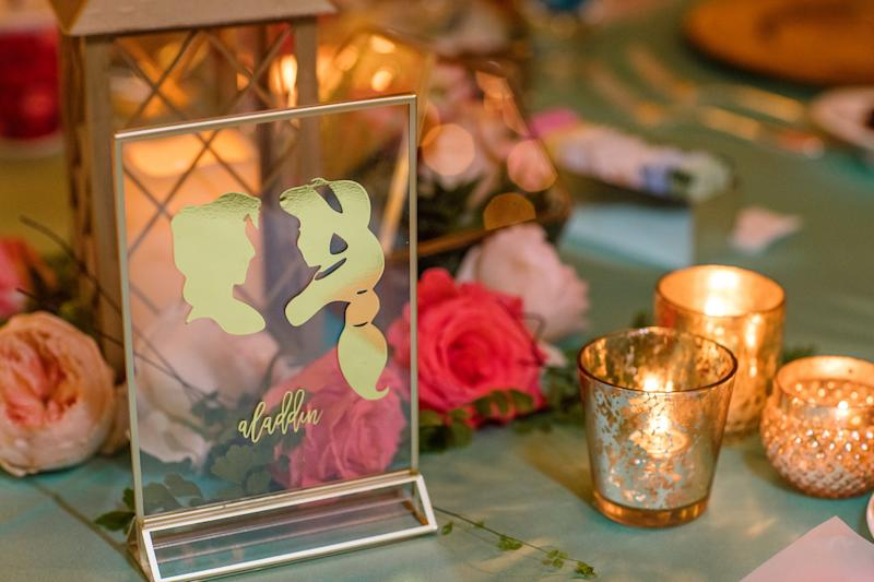 "The ""Aladdin""-themed reception table.  (White Rabbit Photo Boutique)"
