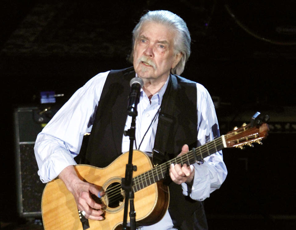 Guy Clark was a Grammy-winning Texas country and folk singer, musician, and songwriter whose songs were recorded by Johnny Cash, Vince Gill, Ricky Skaggs, Brad Paisley, John Denver, Alan Jackson, Rodney Crowell, Kenny Chesney, and many others. He died May 17 after a long battle with lymphoma. He was 74. (Photo: Getty Images)