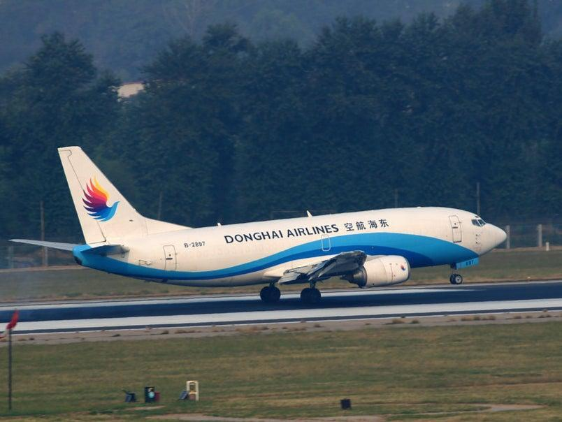 The incident took place on a Donghai Airlines aircraft (Flickr)