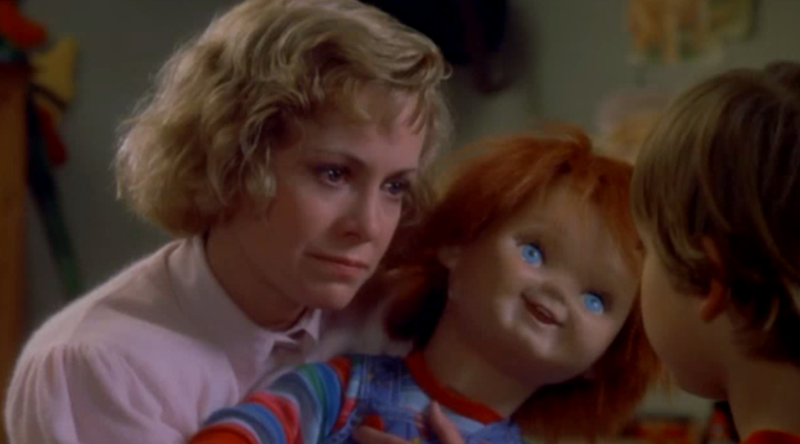 Catherine Hicks and Alex Vincent in 1988's 'Child's Play' (credit: Universal)