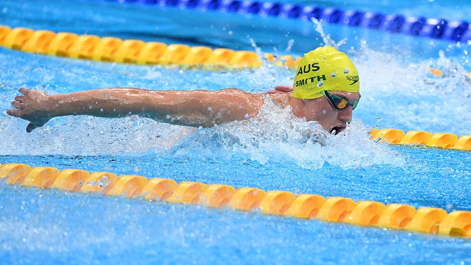 Brendon Smith, pictured here in the final of the men's 400m individual medley at the Olympics.