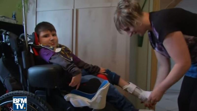 Nolan was left paralysed for life after eating a contaminated burger. Pic: BFMTV