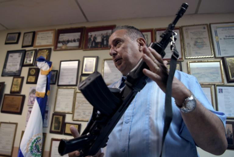 San Jose Guayabal mayor Mauricio Vilanova is armed and ready to patrol the streets of his town to protect them from gangs